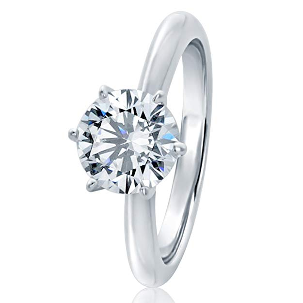 Classic Solitaire Wedding Engagement Ring