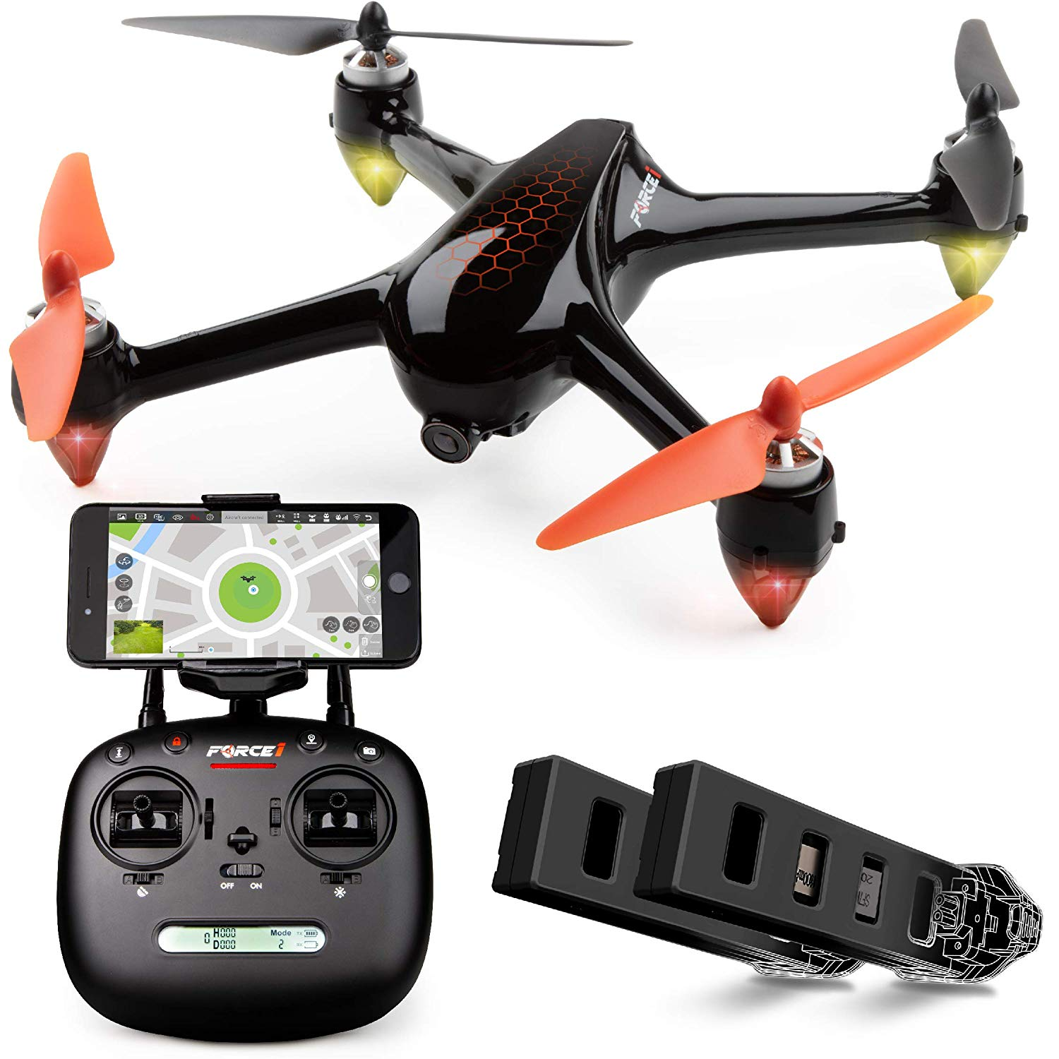 Force1 GPS Drones with Camera