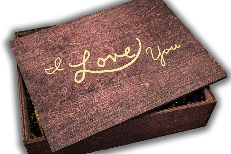 I Love You Wooden Gift Boxes with Lids
