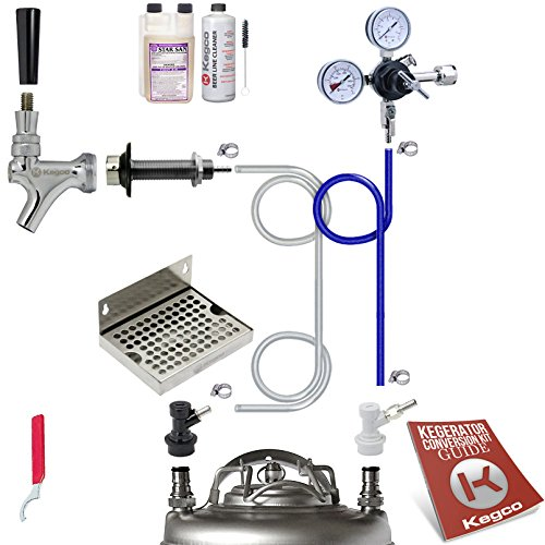 Kegco EBUCK-BLCP-NT Ultimate Door Mount Kegerator Keg Home Brew Conversion Kit Ball Lock